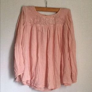 American eagle outfitters pink top size Small